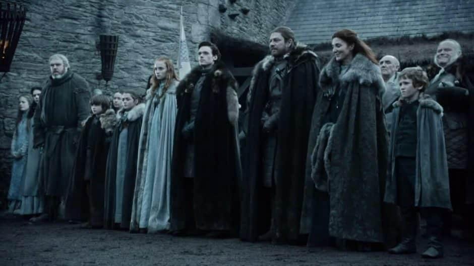 games of thrones la famille stark