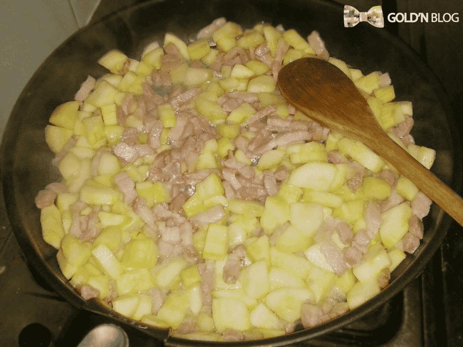 gratin de gnocchi courgette lardon