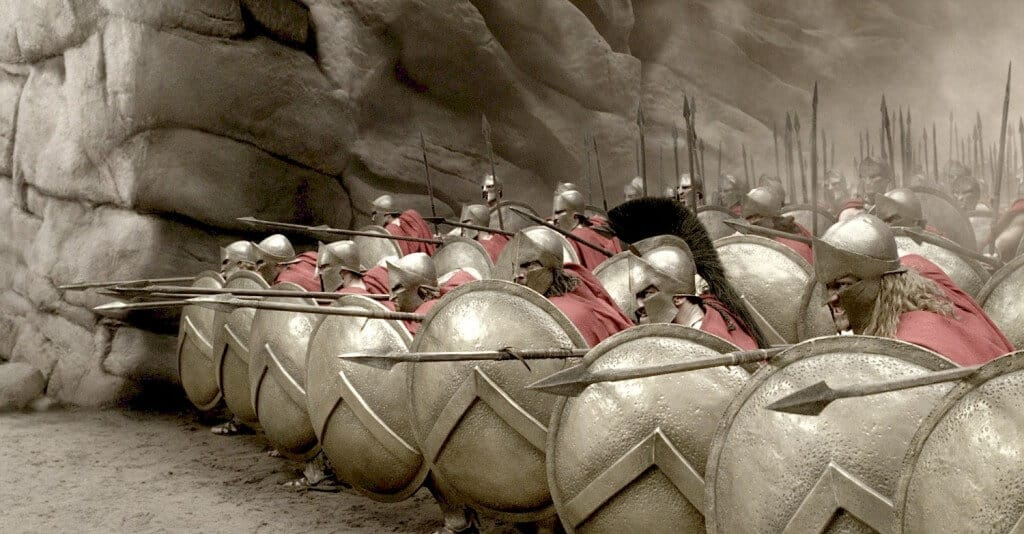 300 film spartiates combat armures