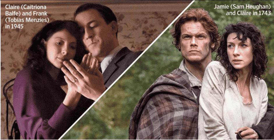 outlander série Caitriona Balfe, Sam Heughan, Tobias Menzies
