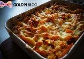Gratin de pâtes légumes jambon cru