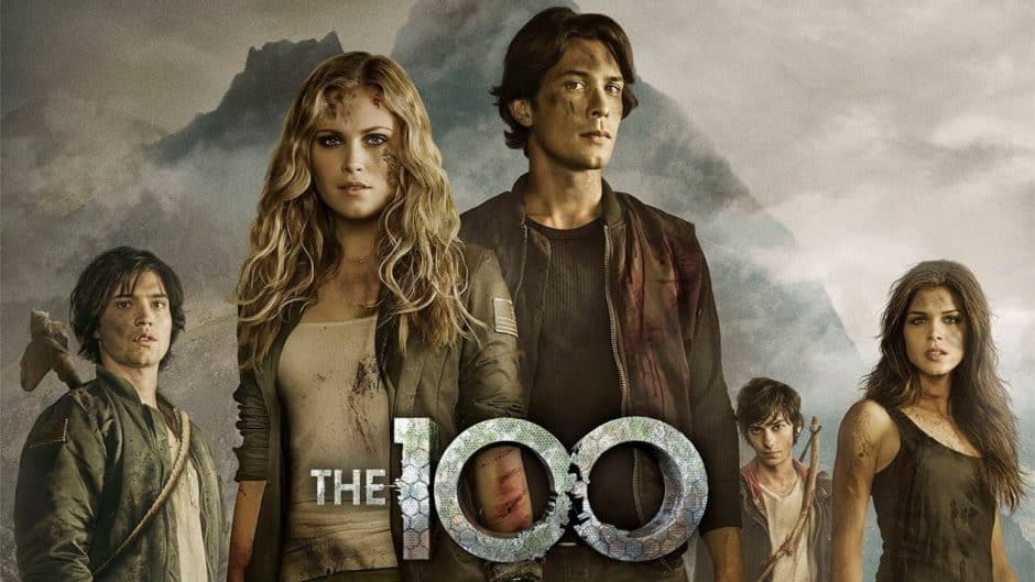 The 100 série science fiction  poster
