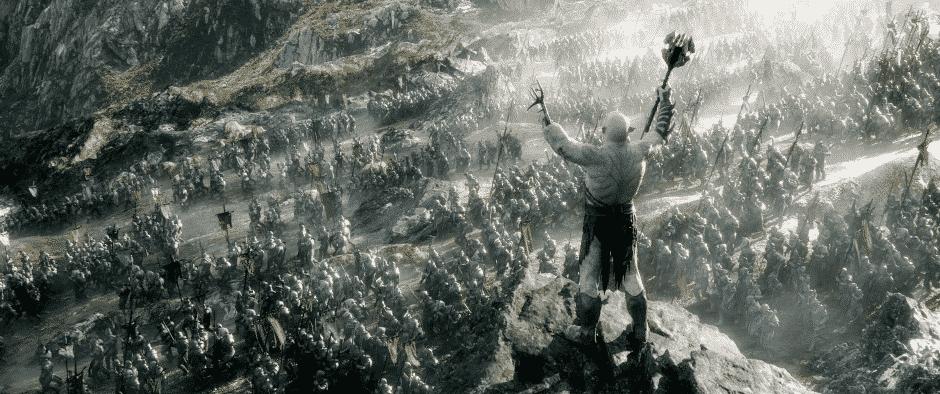 hobbit 3 Azog armée bataille