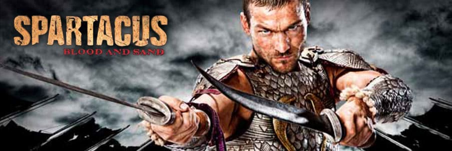 spartacus banniere série historique romain