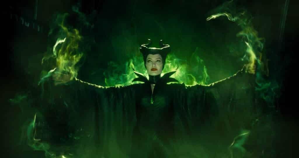 La sorcière Maléfique, jouée par Angelina Joli