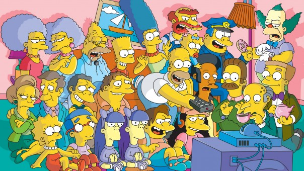 The-Simpsons-TV-Series-Cast-Wallpaper