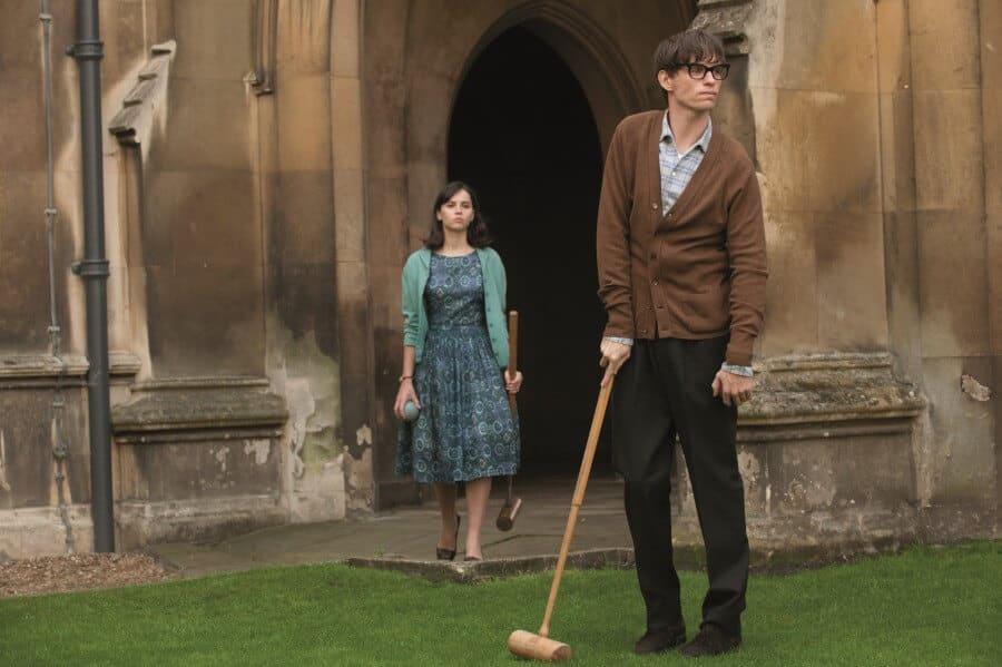 Stephen et sa femme Jane dans Une merveilleuse Histoire du temps