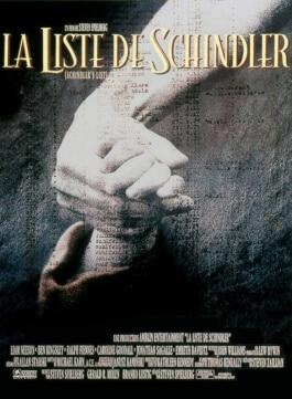 """Affiche """"La Liste de Schindler"""""""