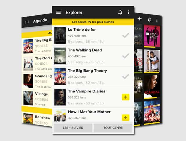tvshowtime application mobile