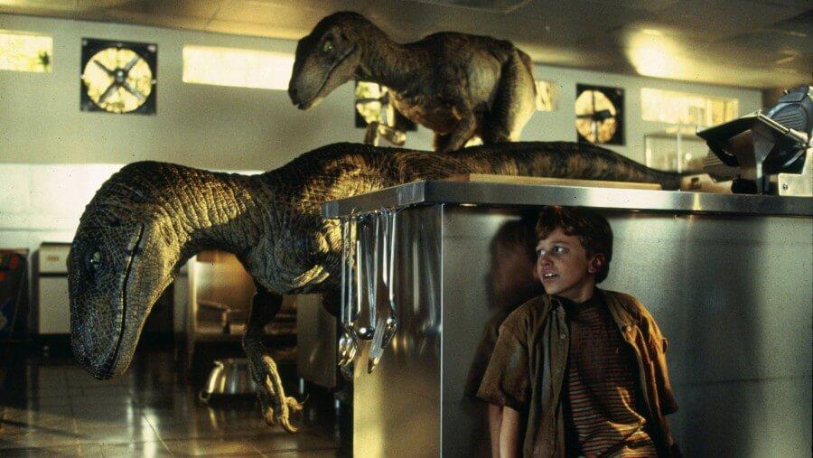 Les raptors dans Jurassic Park