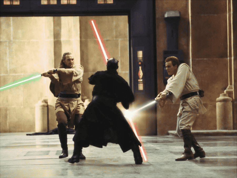 Combat de sabre laser Star Wars