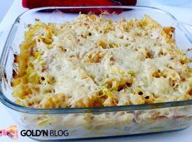 Gratin de pâtes béchamel courgette jambon, la recette facile