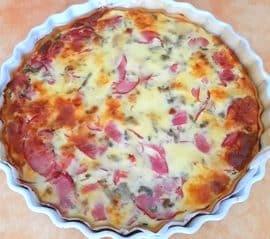 Quiche courgette aubergine bacon gorgonzola, la recette