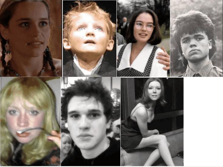 Acteurs de Game of Thrones dans leur jeunesse