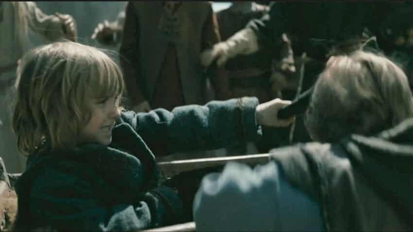 Ivar hache enfant accident vikings