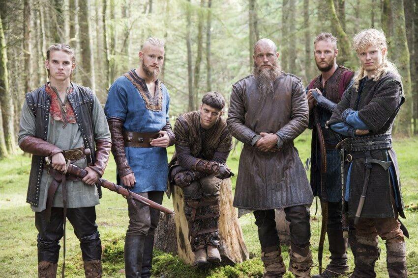 Vikings-ragnar-fils-ivar-sigurd-ubbe-Hvitserk-bjorn