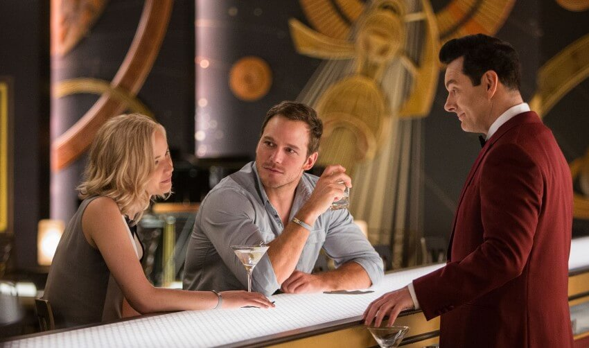 passengers jennifer lawrence michael sheen chris pratt