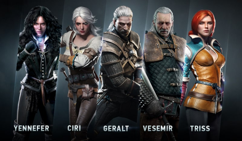 personnages the witcher