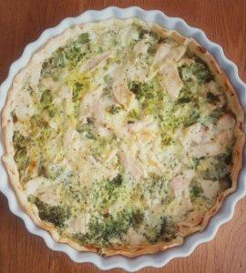 Tarte brocolis et poulet, la recette facile et rapide