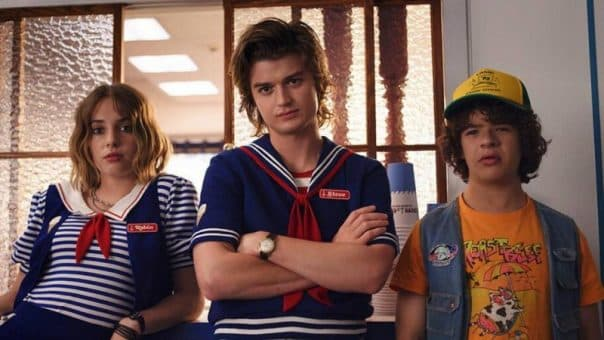 stranger things saison 3 critique : Steeve, Dustin et Robin