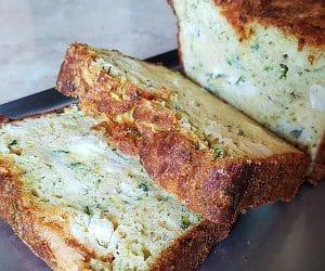 Cake courgette chèvre, la recette facile et rapide