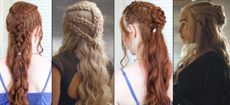 silvousplaits coiffure Daenerys game of thrones