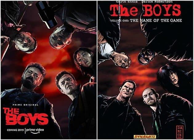 The Boys serie et comic, les affiches